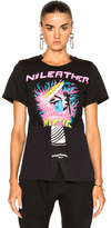 Stella McCartney Jersey No Leather Surf Print T-Shirt in Abstract,Black,Pink.