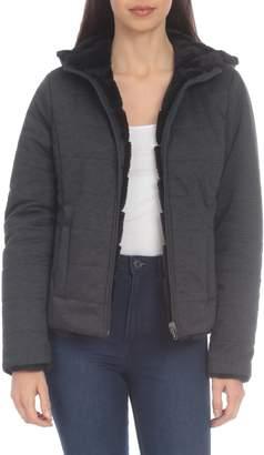 Bagatelle Sport Reversible Knit and Faux Fur Jacket