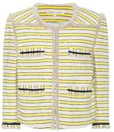 Veronica Beard Talie striped tweed jacket