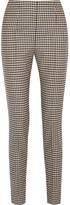 Max Mara Checked Stretch-wool Slim-leg Pants - Black