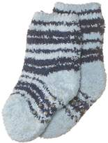 Playshoes Boy's Fleece Striped Soft and Cuddly Anti-Slip Ankle Socks