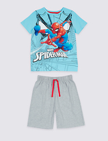 Marks and Spencer Spider-ManTM Pure Cotton Short Pyjamas (4-16 Years)