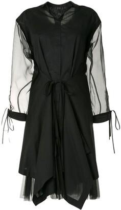 Shanshan Ruan Draped Shirt Dress