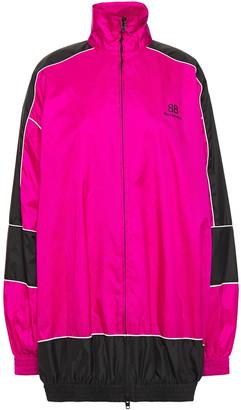 Balenciaga Two-tone Printed Shell Jacket