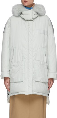 Army by Yves Salomon 'Doudoune' hooded technical fabric jacket