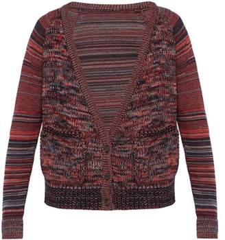 Bless Striped-sleeve Wool Cardigan - Mens - Red Multi