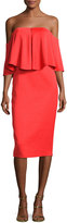 Camilla And Marc Off-the-Shoulder Popover Sheath Dress, Red