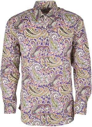 Etro Multicolor Paisley Print Long Sleeve Button Front Shirt L