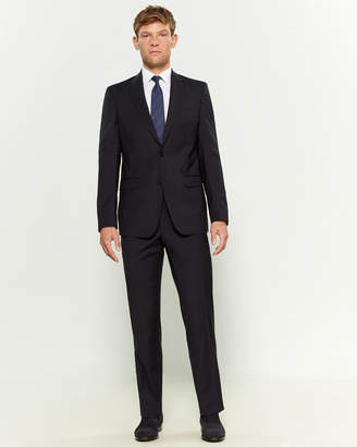 Versace Two-Piece Navy & White Wool Pinstripe Suit