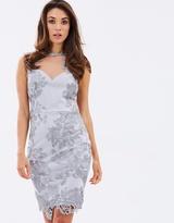 Lipsy Sheer Lace Overlay Midi Dress