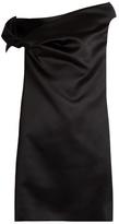 Balenciaga Asymmetric off-the-shoulder satin mini dress