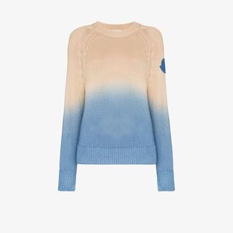 Moncler Girocollo Tricot dip-dye sweater
