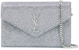 Saint Laurent envelope clutch - women - Calf Hair - One Size