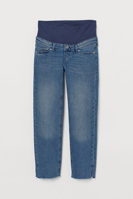 H&M MAMA Straight Ankle Jeans - Blue
