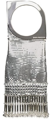 Paco Rabanne Mini Op'Art Fringe Metal Mesh Clutch