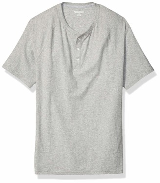 Amazon Essentials Men's Slim-Fit Short-Sleeve Slub Henley T-Shirt