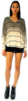 Saint Grace Sunset Stripe Compass Oversized V Top In Fifty Ombre Wash