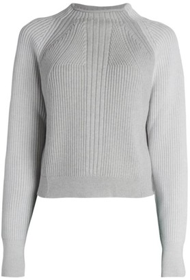 Proenza Schouler Mockneck Raglan Virgin Wool Sweater