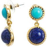 Kenneth Jay Lane FINE JEWELRY KJL by Gold-Tone Aqua & Blue Stone Earrings