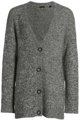 ATM Anthony Thomas Melillo Cotton-Blend Button-Front Cardigan