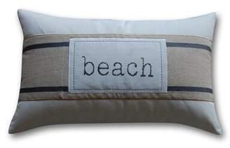 Greenland Home Fashions Banded Beach Cotton Lumbar Pillow Cover Home Fashions