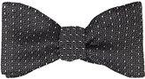 Barneys New York Men's Dash-Woven Textured Silk Bow Tie-BLUE, GREEN