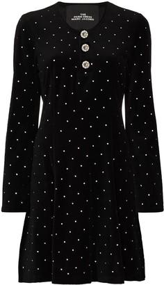 Marc Jacobs Crystal-Embellished Velvet-Effect Dress