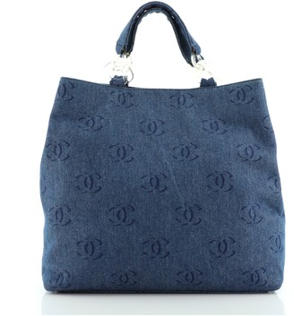 Chanel CC Tote Denim Large