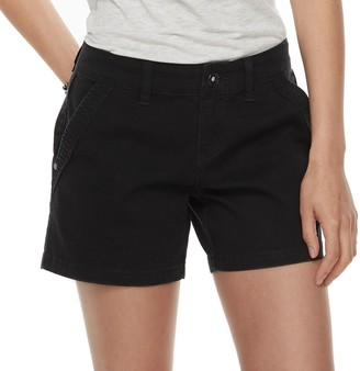 UNIONBAY Juniors' Elsie Stretch Twill Midi Shorts
