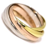 Cartier 750 Yellow White & Pink Gold Trinity Ring Size 5.75
