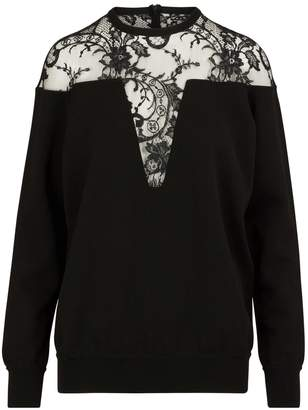 Givenchy Lace inserts pullover