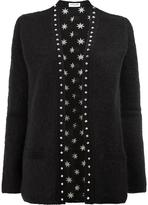 Saint Laurent studded trim cardigan - women - Silk/Polyamide/Mohair/Wool - XS