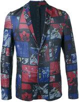 Daniele Alessandrini comic strip jacket - men - Cotton/Polyester/Spandex/Elastane - 46
