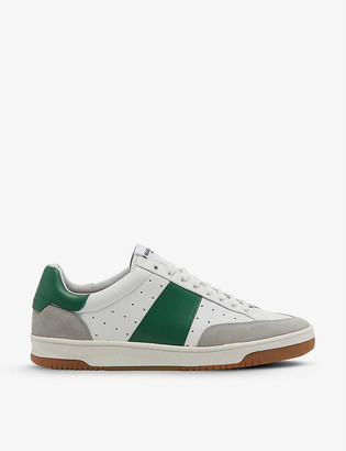 Sandro Magic leather and suede tennis trainers