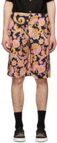 Gucci Black and Pink Eige Print Shorts