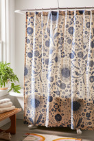 Urban Outfitters Shelby Woodblock Floral Shower Curtain