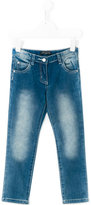 Miss Blumarine slim-fit jeans - kids - Cotton/Elastodiene/Polyester - 2 yrs