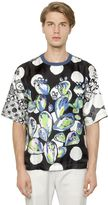 Dolce & Gabbana Cactus Printed Silk T-Shirt