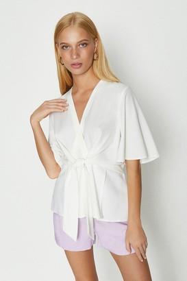 Coast Short Sleeve Plain Wrap Top