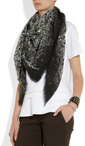 Lanvin Crystal-print wool and cashmere-blend scarf