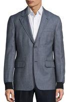Melindagloss Check Printed Wool Blend Jacket