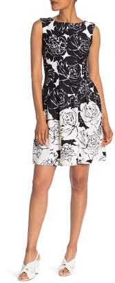 Taylor Floral Scuba Sleeveless Dress