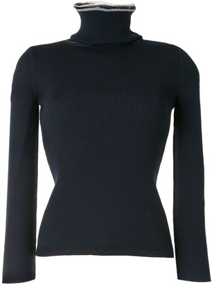 Y/Project Tulle-Panel Roll Neck Jumper