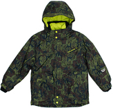 Big Chill Forest Green Camo Board Jacket - Boys