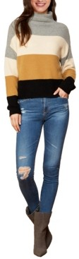 Cliche Women's Color Block Turtle Neck Pullover Sweater (57% Off) - Comparable Value $69