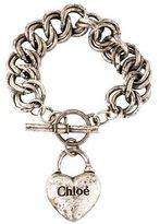 Chloé Heart Charm Toggle Bracelet