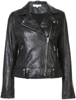 IRO small studs biker jacket - women - Leather - 38