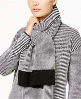 Eileen Fisher Merino Wool Colorblocked Scarf