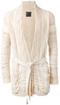 Laneus belted cardingan - men - Cotton/Nylon/Viscose - 50