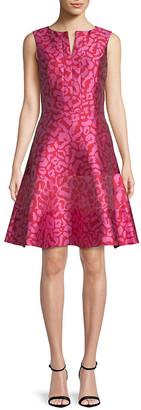 Oscar de la Renta Silk-Lined A-Line Dress